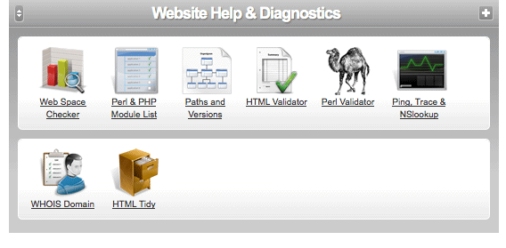 Website help & diagnostics